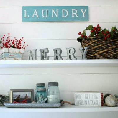 A Festive Christmas Laundry Room