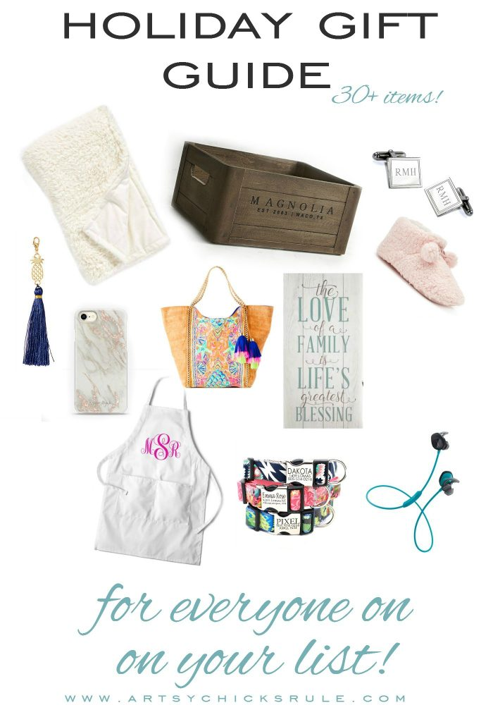 Holiday Gift Guide For Everyone On Your List! artsychicksrule.com #giftguide #holidaygiftguide #shoppingguide #giftideas #creativegifts #uniquegifts