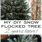 My DIY Snow Flocked Tree -2 Years Later