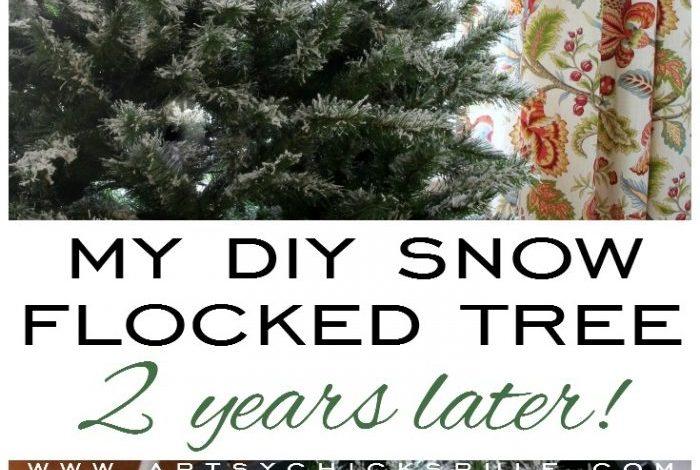 My DIY Snow Flocked Tree -2 Years Later