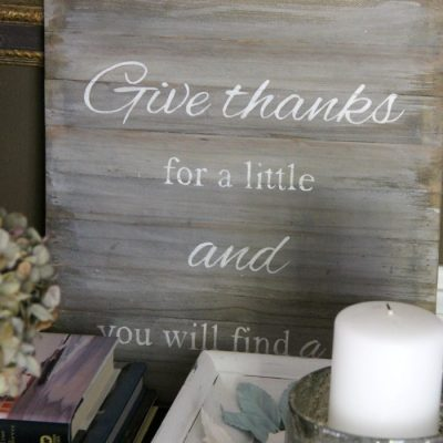 Faux Weathered Give Thanks Sign (you can make this!)