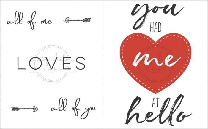 10 FREE Valentine's Printables!! artsychicksrule.com #valentinesdayideas #valentinesprintables #freeprintables #valentinesideas