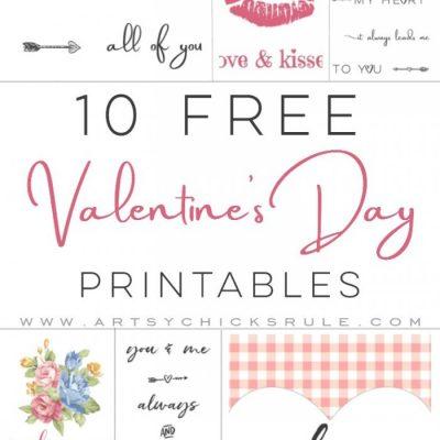 10 Valentine's Printables