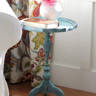 "Chalk Painted Antique Side Table (easy ""antiquing"" technique!)"