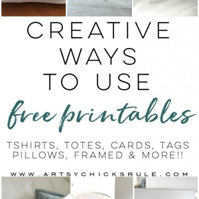 Creative Ways To Use Free Printables (lots of design ideas!)