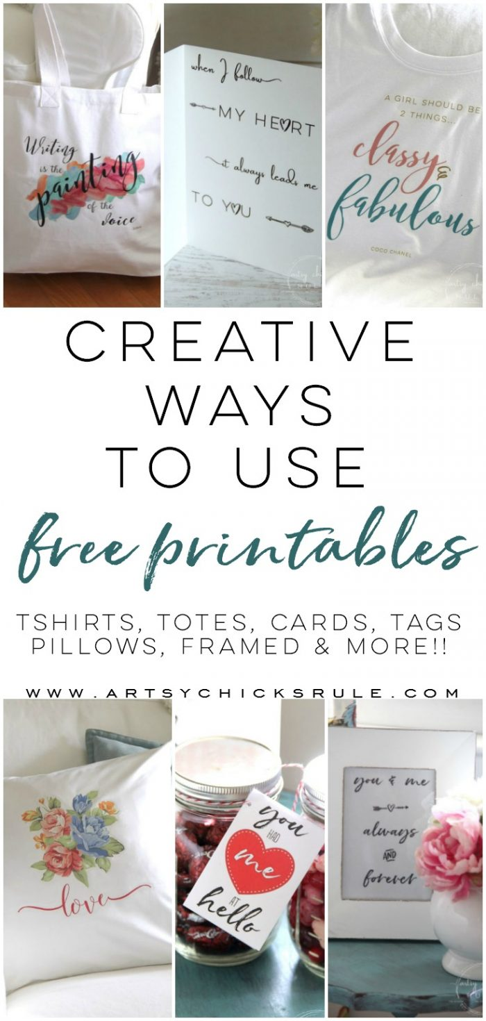 Creative Ways To Use Free Printables - artsychicksrule.com #freeprintables #waystouseprintables #printablesideas #printablesprojects