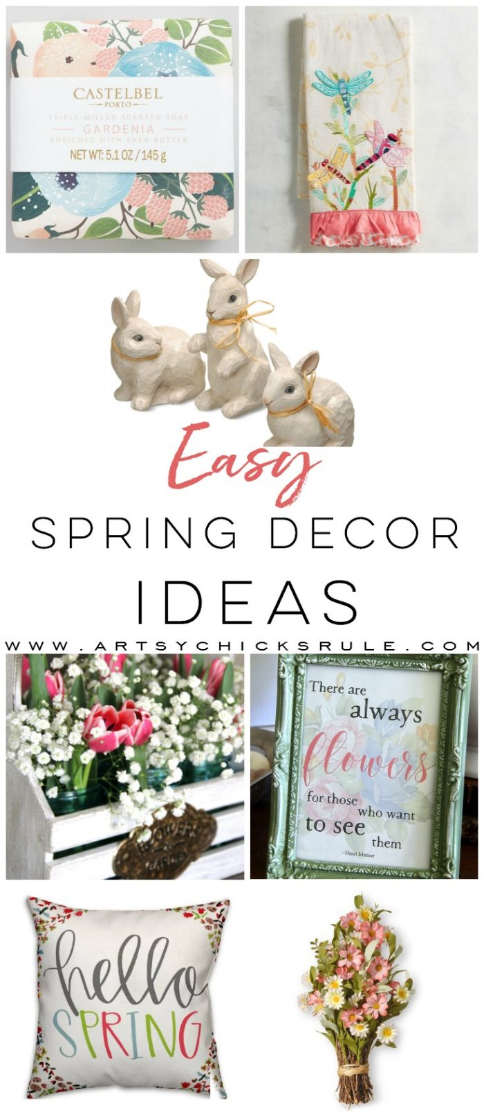 Easy Spring Decor Ideas For Your Home Artsy Chicks Rule
