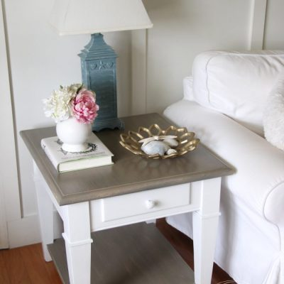 Coastal Style Chalk Paint Makeover (simple weathered finish with paint!)