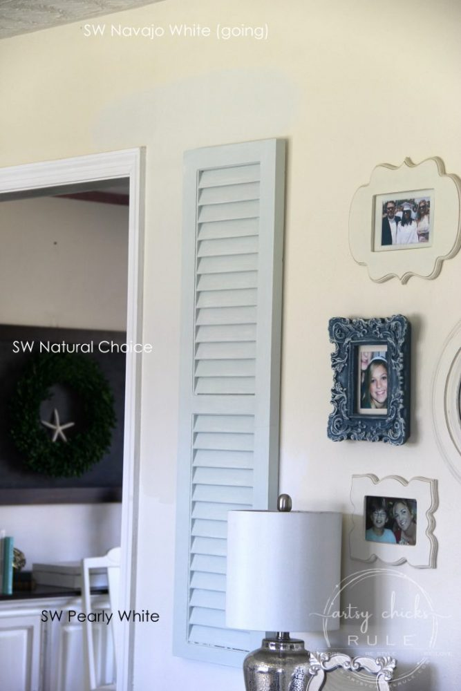 SW Natural Choice and SW Pearly White artsychicksrule.com #sherwinwilliams #SWNaturalChoice #SWPearlyWhite #paintcolors #housepaintcolors #neutralwallcolor #perfectneutral