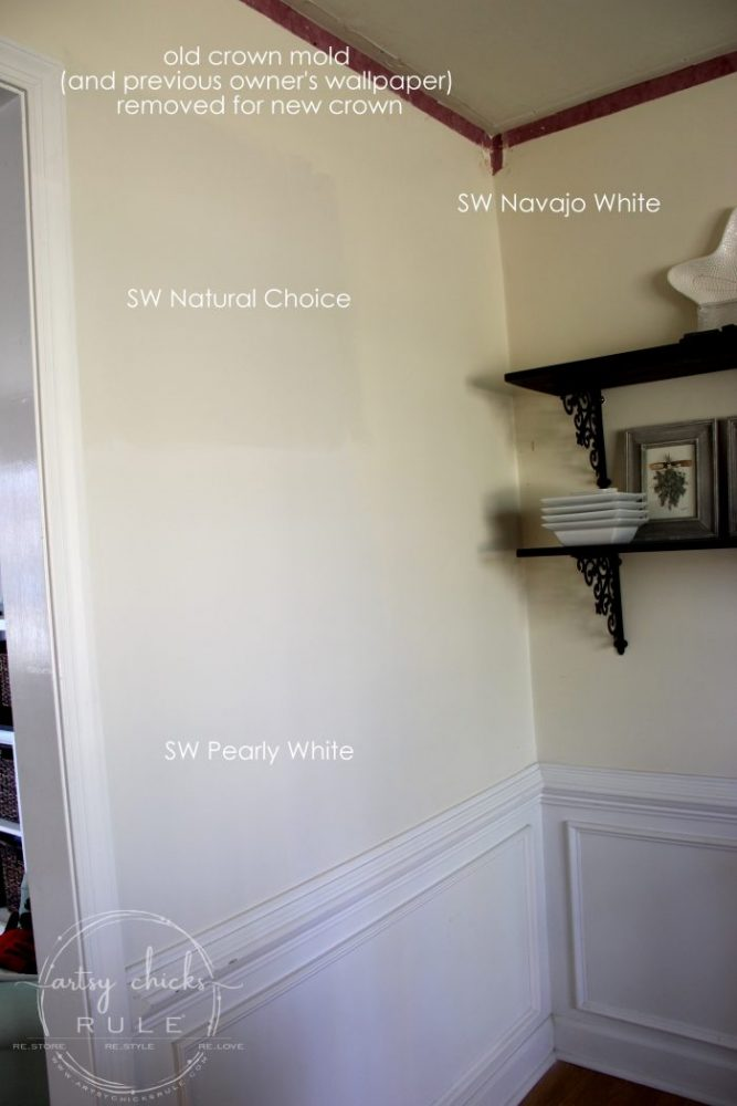 SW Natural Choice and SW Pearly White artsychicksrule.com #sherwinwilliams #SWNaturalChoice @SWPearlyWhite #paintcolors #housepaintcolors #neutralwallcolor #perfectneutral