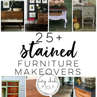 25+ Beautiful Stained Furniture Makeovers