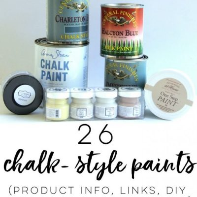 26 Types of Chalk Style Paint for Furniture (ALL the details here!)