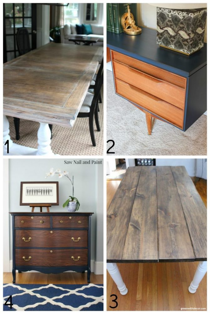 25+ Beautiful Stained Furniture Makeovers! TONS of Inspiration! artsychicksrule.com #stainedfurniture #furnituremakeovers #javagel #antiquewalnut #stainedfinish #furniturestain #furniturerefinished