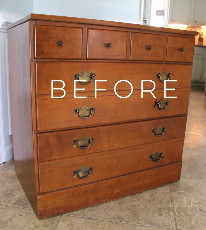 Coastal Blue U0026 Antique Walnut Gel Stain Dresser Makeover  Artsychicksrule.com #antiquewalnutgelstain #generalfinishes
