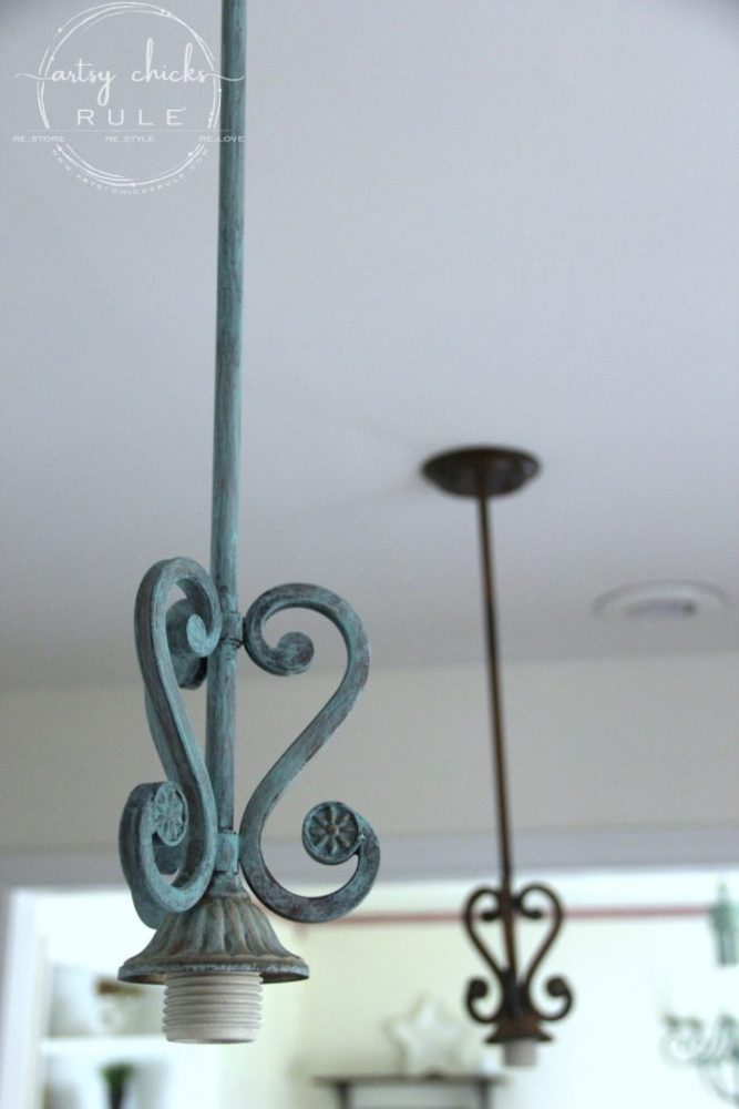 How To Create Faux Patina (SO simple!) Full video tutorial! - artsychicksrule.com #fauxpatina #patinafinish #fauxfinishes #verdigris #createpatina #gilderspaste #chalkpaint