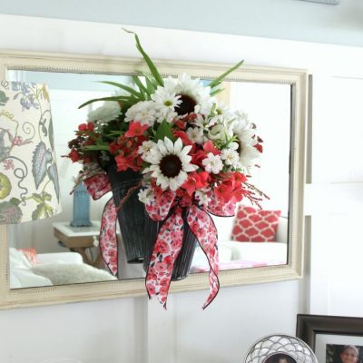 Flower Pail Wreath Idea