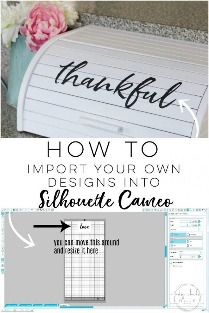 How To Import Your Own Designs Into Silhouette Cameo EASY!!!! artsychicksrule.com #silhouettecameo #silhouetteprojects #silhouettedesigns #signart #wallart #diysigns #howtousesilhouette