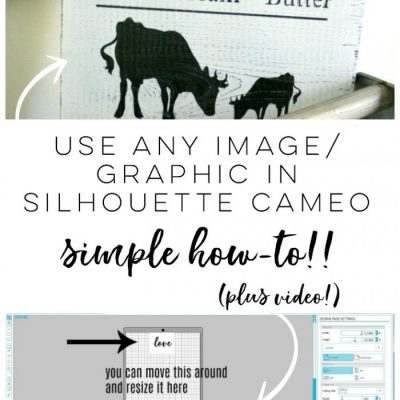 How To Import Your Own Designs Into Silhouette Cameo (so easy & endless possibilities!)