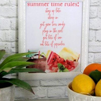 3 Fun Summer Printables (plus 2 you can customize!)