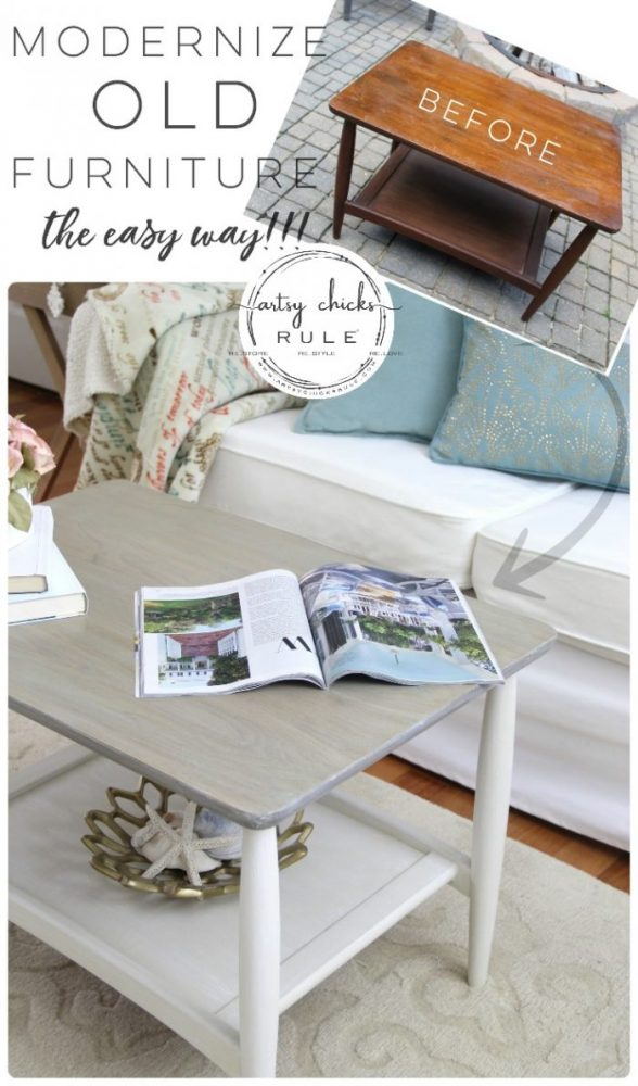 Modernize and Update OLD Furniture (the easy way!) AND budget friendly too! #furnituremakeover #paintedfurniture #chalkpaintedfurniture #ascp #chalkpaintfurniture #weathered finish #coastaldecor #cottagestyle #coastalfurniture