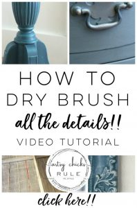 Want To Know How To Get A Dry Brushed Finish?