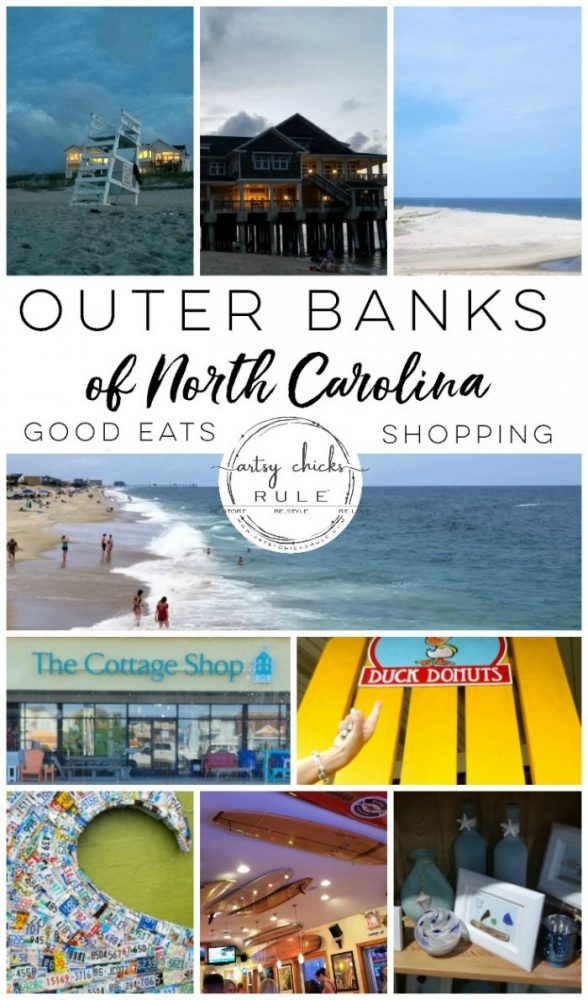Outer Banks Places To Eat (and shop!) - artsychicksrule.com #outerbanks #outerbankseats #outerbanksshopping #beachdecor #coastalstyle #traveldestinations #travelideas #obx #beachtrips #coastaldestinations