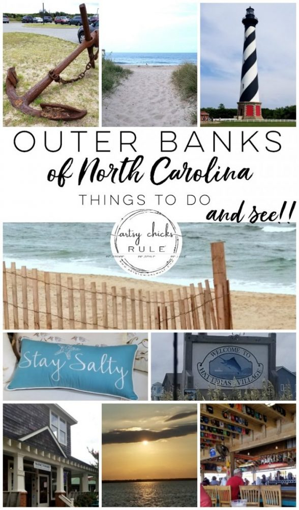 Outer Banks Things To Do (and see!!) Lots of great info for anyone traveling to the OBX! artsychicksrule.com #outerbanks #outerbanksvacation #obx #traveldestinations #travel #visitobx #thingstodoinobx #outerbankstrip #coastaldestinations #coastalvacations #nagshead #hatteras #manteo