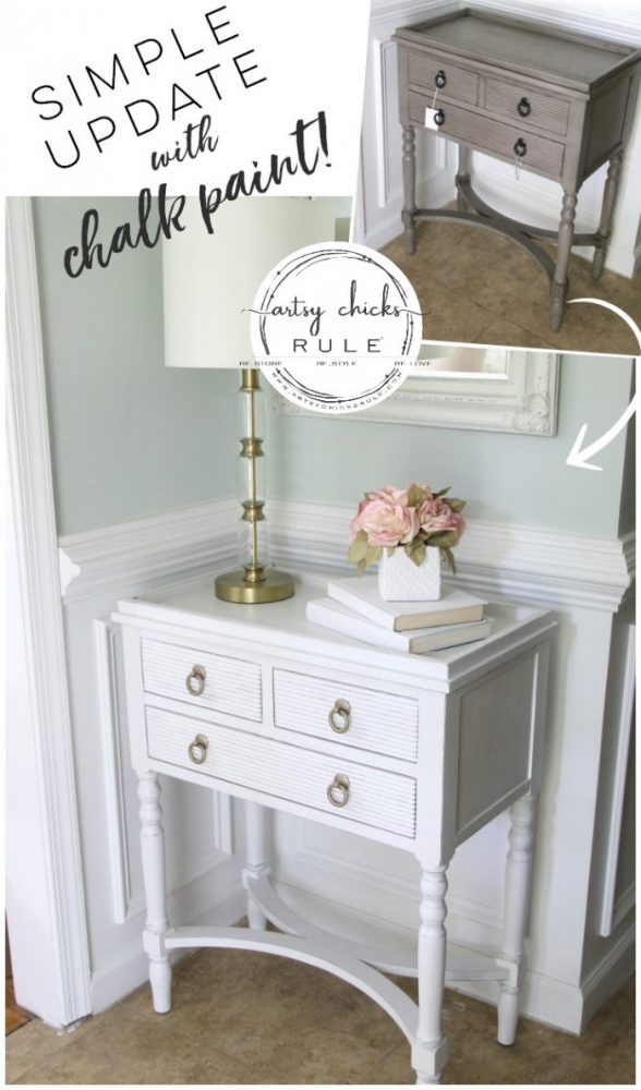 Simple Table Update With Chalk Paint artsychicksrule.com #updatewithchalkpaint #chalkpaintedfurniture #ascp #paintedfurniture #furnituremakeover