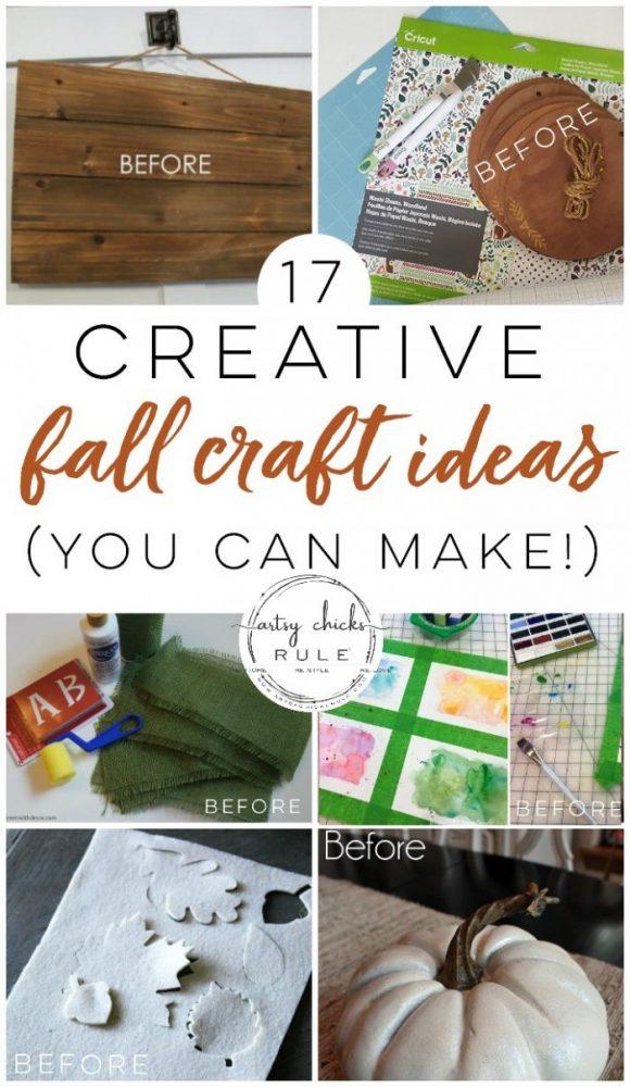 17 Super Fun & Creative FALL Craft Ideas --->> YOU CAN MAKE! artsychicksrule.com #fallcraftideas #falldecor #fallcrafts #diyfalldecor #easycraftideasforfall #fallhome