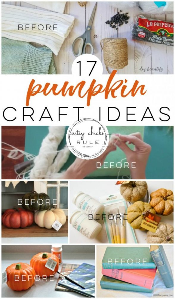 When you think fall, do you also think PUMPKIN?? Yes, of course! What better way to bring in fall season than with these 17 adorable pumpkin craft ideas!