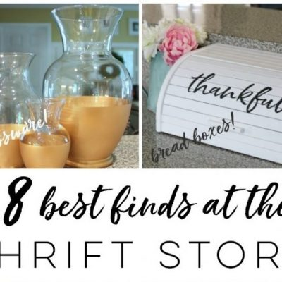 8 Things To Buy At The Thrift Store (to repurpose or makeover!)