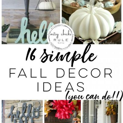 Simple Fall Decor Ideas (inspiration for your fall home!)