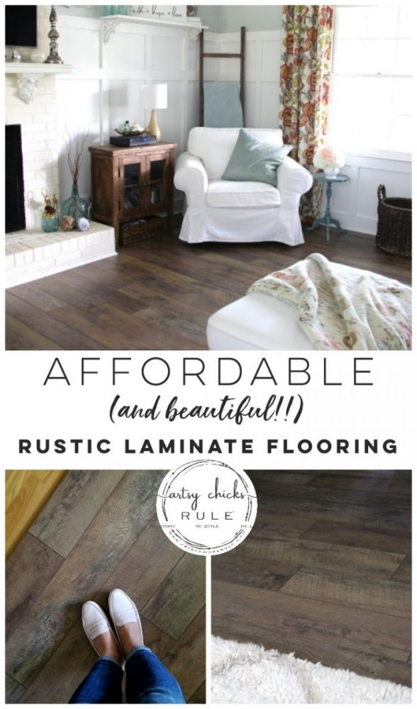 Gorgeous and AFFORDABLE Rustic Laminate Flooring artsychicksrule.com #ad #rusticflooring #farmhouseflooring #farmhousestyle #coastalstyle #coastaldecor #coastalflooring #diyflooring #laminateflooring #fixerupperstyle