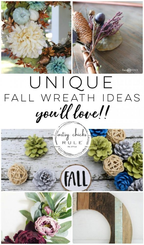 Unique Fall Wreath Ideas You Are Sure To Love! So many ideas and perfect for any fall home decor!