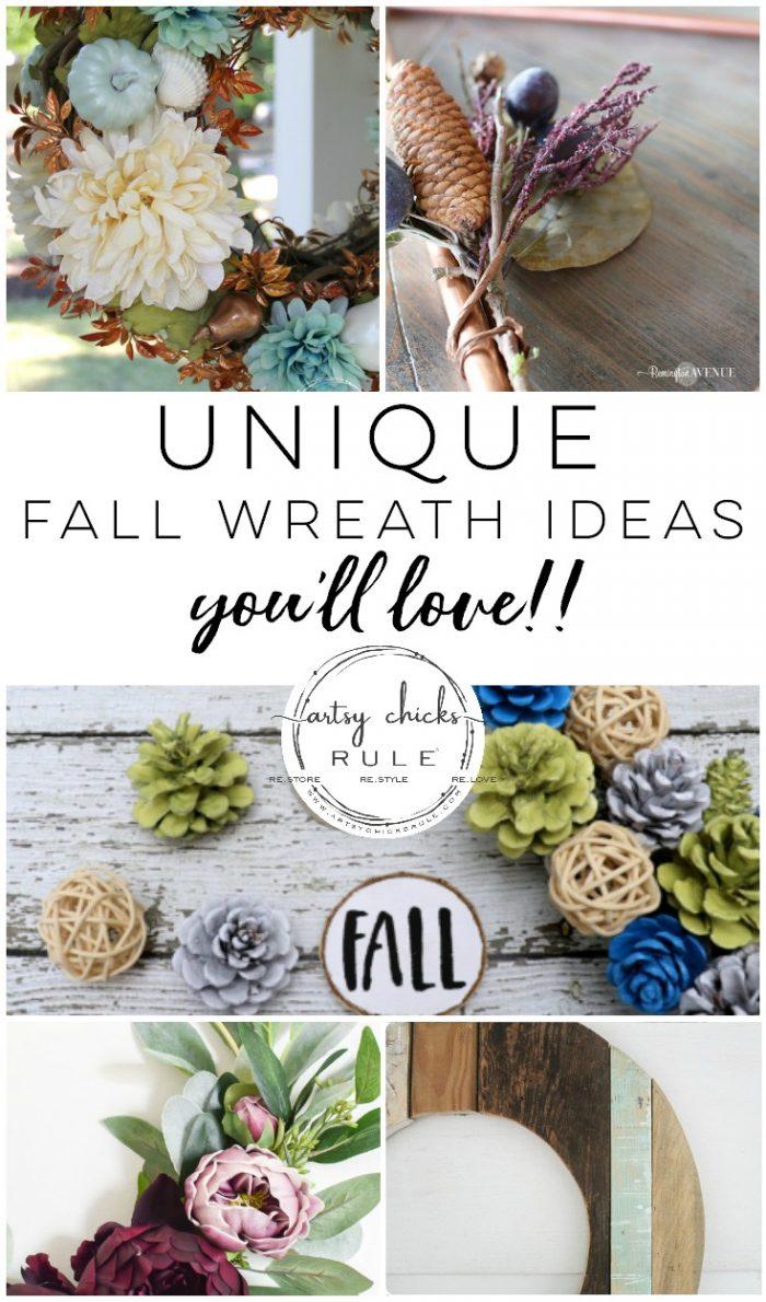 14 Unique Fall Wreath Ideas (you\'ll love!!) - Artsy Chicks Rule®