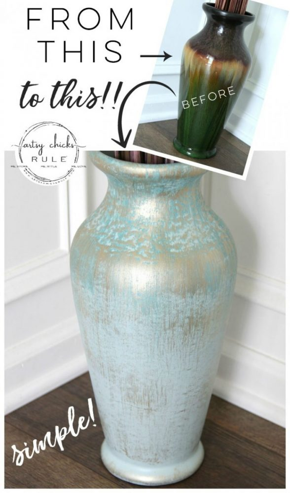 Update OLD Decor....with Paint! SO simple to give your dated decor a brand new look! artsychicksrule.com #updateolddecor #homedecor #painteddecor #updateddecor #painteddecor #decorideas #diydecor
