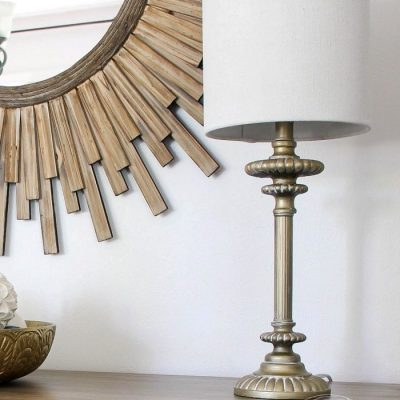 How To Whitewash Metal (lamp base and shade makeover!)