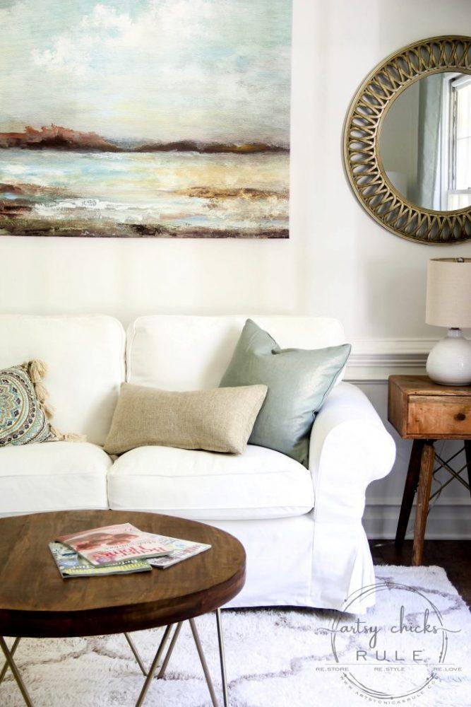 Coastal Glam Morning Room Reveal!!! artsychicksrule.com #coffeeroom #morningroom #keepingroom #coastalglam #coastaldecor #coastalideas #coastalhome #coastalstyle #roommakeover #midcenturymodern #mcm