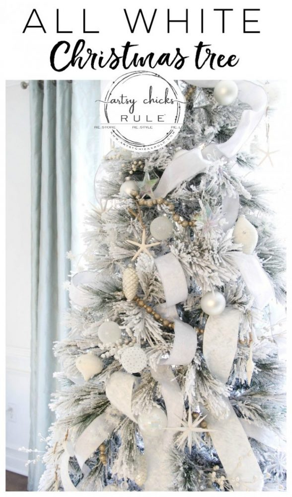 All White Christmas Tree Ideas.All White Christmas Tree Morning Room Decor Artsy