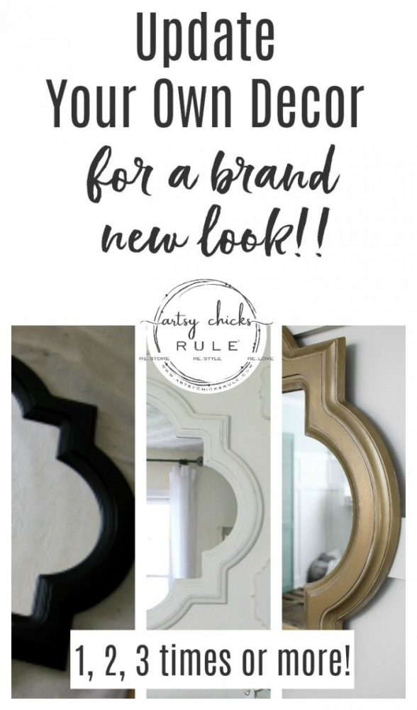 Update Your Decor - For a Brand New Look!! - artsychicksrule.com #updateolddecor #decormakeover #makeoverideas #thriftydecor #painteddecor
