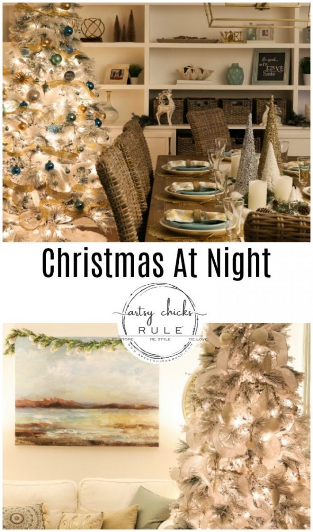 Christmas At Night artsychicksrule.com #christmasatnight #christmasnighttime #christmasnightphotos