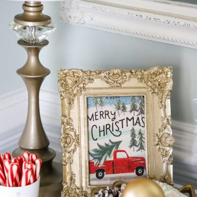 Christmas Card Decor (simple and inexpensive decorating!)