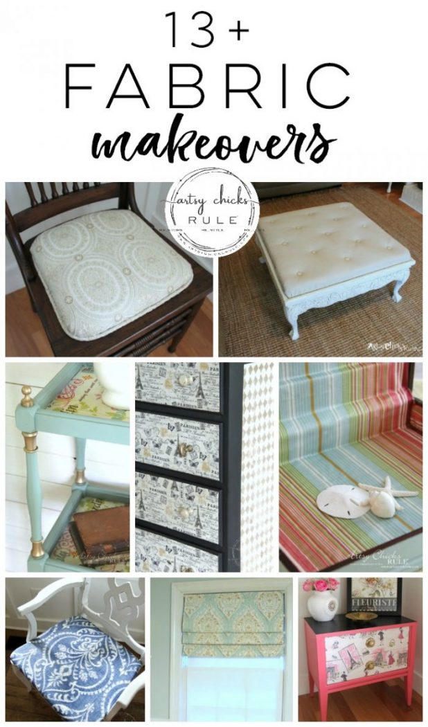 13+ Fun FABRIC PROJECTS artsychicksrule.com #fabricprojects #fabriccoveredfurniture #fabricideas #fabriccrafts
