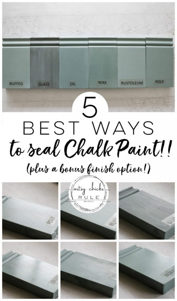 5 TOP Ways To SEAL Chalk Paint!! Best ways to seal Chalk Paint and Milk Paint for furniture. artsychicksrule.com #sealchalkpaint #chalkpaintsealer #milkpaintsealer #sealingmilkpaint