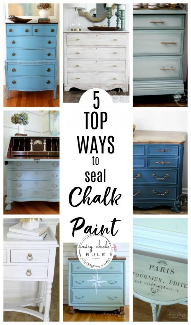The 5 Top Ways To Seal Chalk Paint Or Milk Paint Artsy