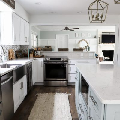 DIY Coastal Kitchen Makeover Reveal (full remodel!!!)