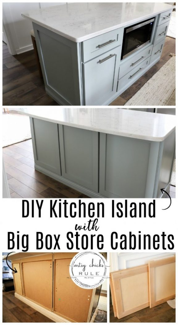 Diy Kitchen Island Makeover Made With Big Box Store