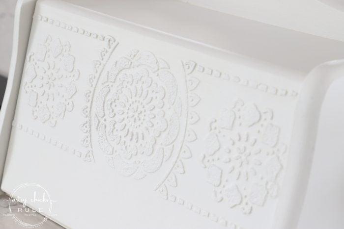 Repurposed Bread Box - Take Two!! So many uses besides bread! Great storage idea! artsychicksrule.com #repurposedbreadbox #breadboxmakeover #breadboxideas #storageideas