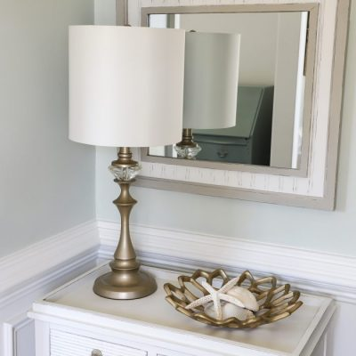 Thrift Store Mirror Makeover (coastal style)