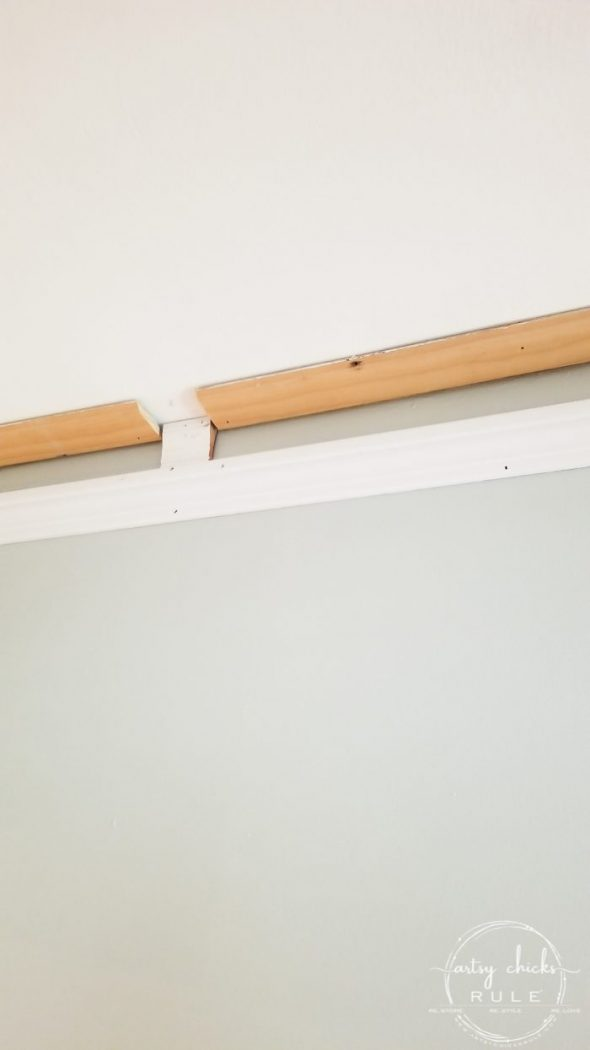 DIY Crown Molding - Deep, custom style look...the easy (and inexpensive) way! artsychicksrule.com #diycrownmolding #diycrownmold #customwoodwork